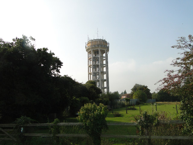 Water tower at Trimley St. Mary