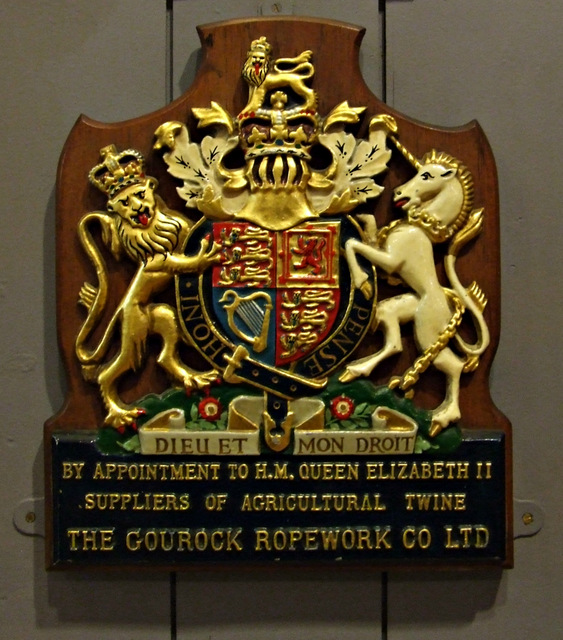 """Gourock Ropeworks """"By Appointment"""" coat of arms"""