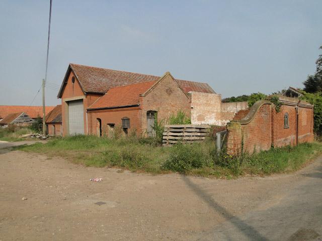 Farm buildings at Gulpher Farm