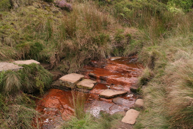Red ford: Reap Hill Clough crossing the Pennine Way