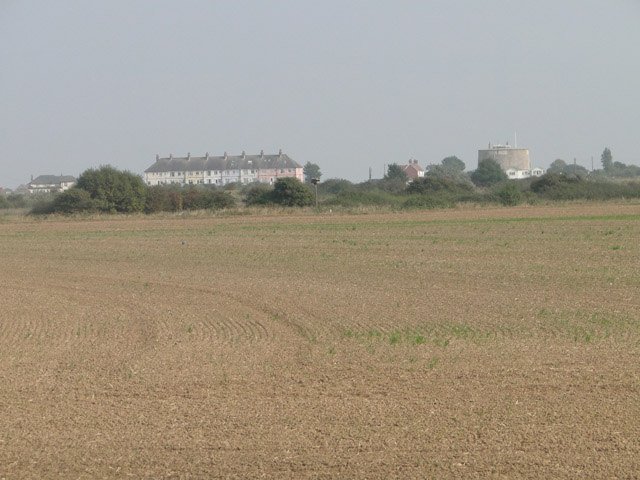 Martello tower 'U' across the marshes