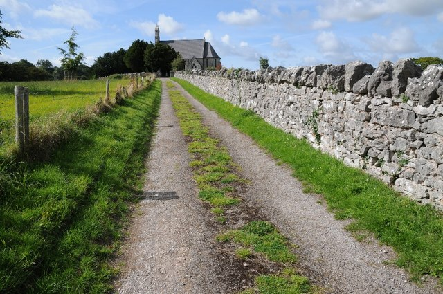 Drive to St Mary's Church, Cefn Meriadog