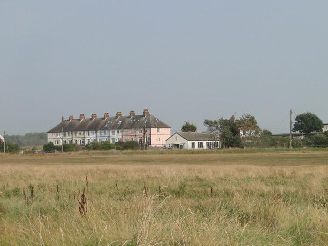 Terraced houses near Felixstowe Ferry