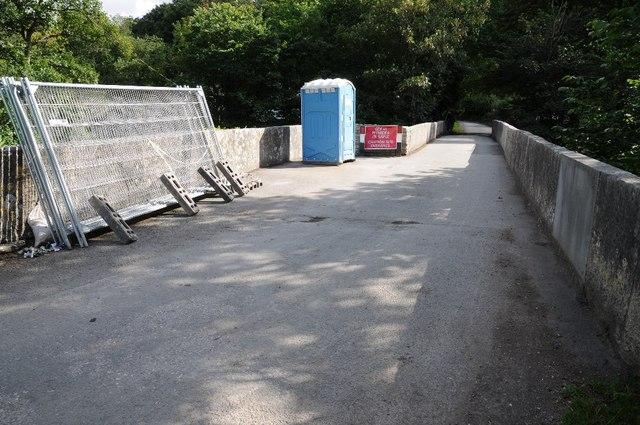 Roadworks on the bridge