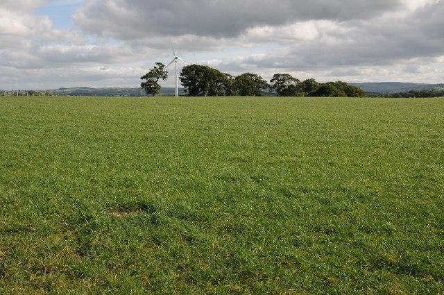 Farmland above Bont-Newydd
