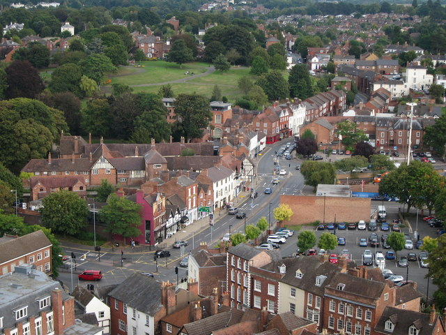 View from Worcester Cathedral tower