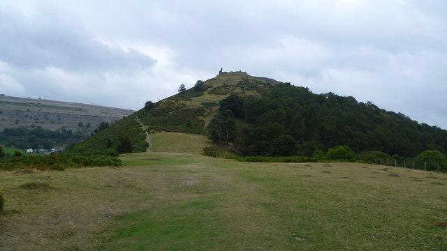 Approaching Castell Dinas Bran, Llangollen