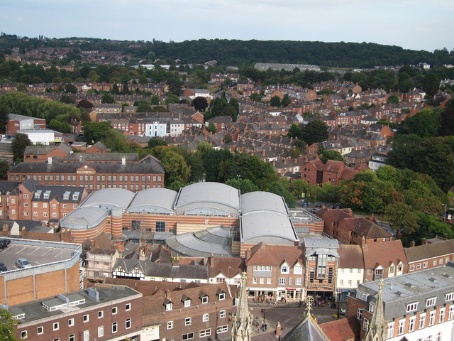 Looking from Worcester Cathedral