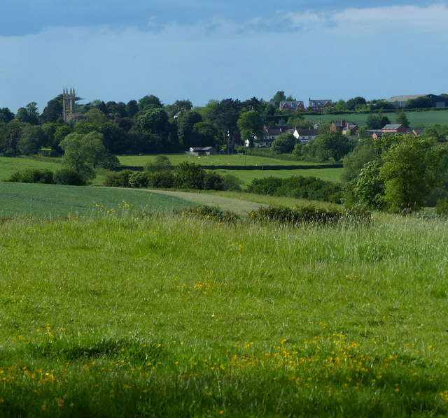 View towards the village of Gaulby