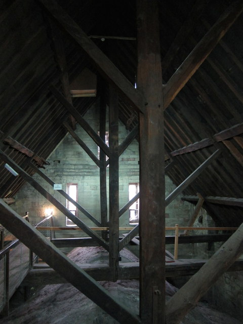 Inside Worcester Cathedral roof