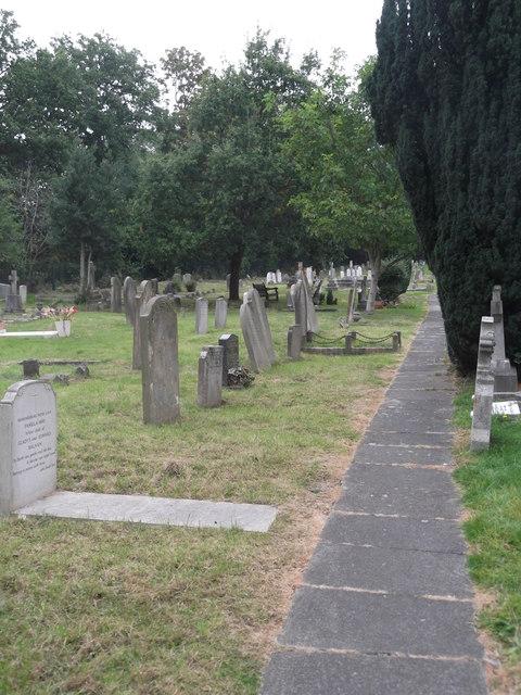 Pathway, St Lawrence churchyard, Whitchurch Lane, Edgware