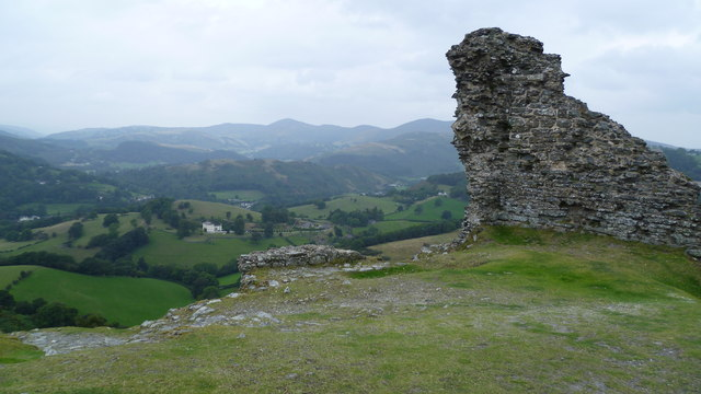 View westwards from Castell Dinas Bran