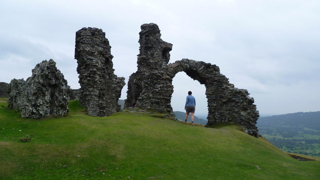 Part of the ruins of Castell Dinas Bran