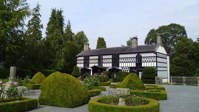 Plas Newydd in Llangollen in its gardens