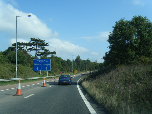 M56 eastbound slip to Manchester