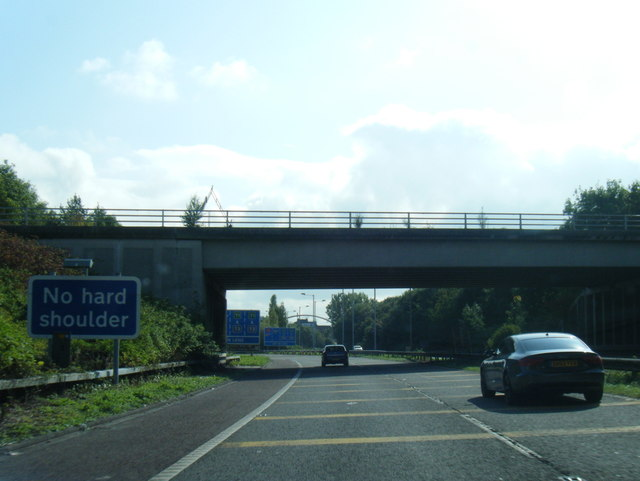 End of M56 at Manchester Airport