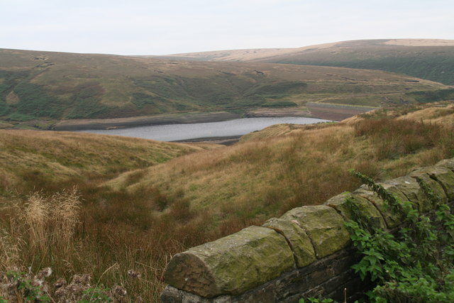 Wessenden Head Reservoir from the bridge over Pudding Real Clough