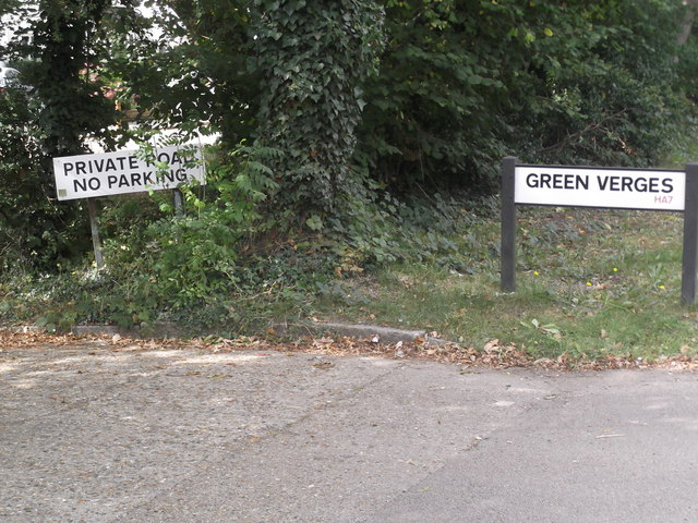 Signs, Green Verges, Stanmore