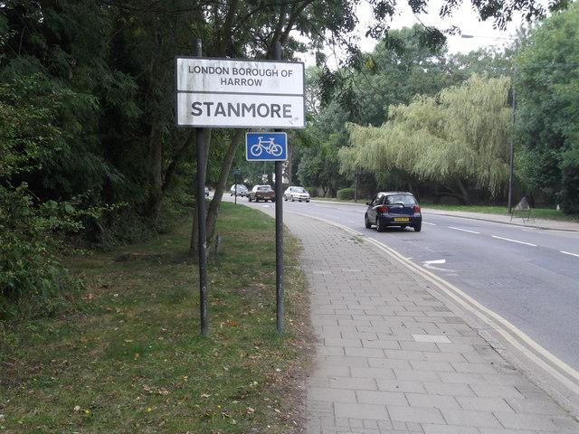 Entering Stanmore, Marsh Lane