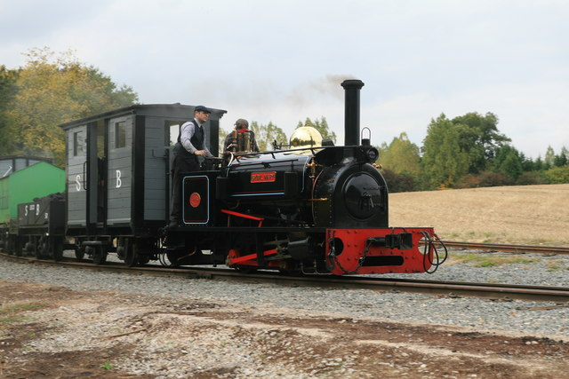 Statfold Barn Railway - demonstration goods train