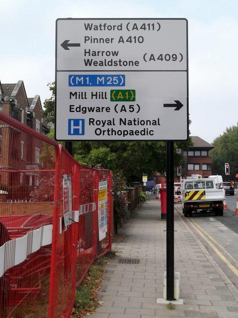 Sign, Marsh Lane, Stanmore