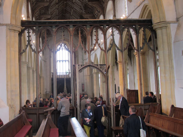 Cawston, St Agnes: rood screen from the chancel