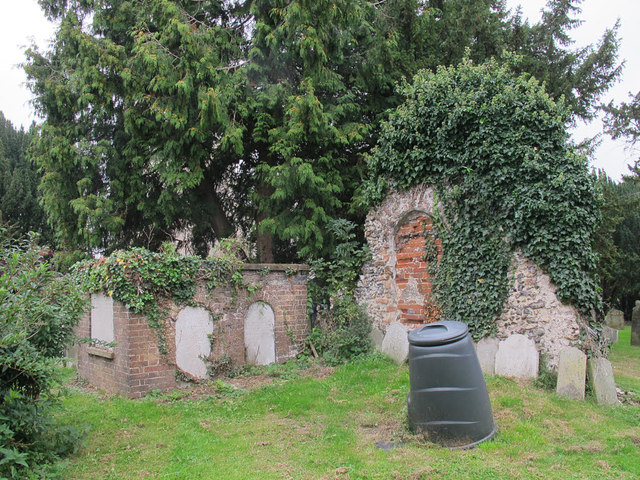 All Saints, Hackford: ruins