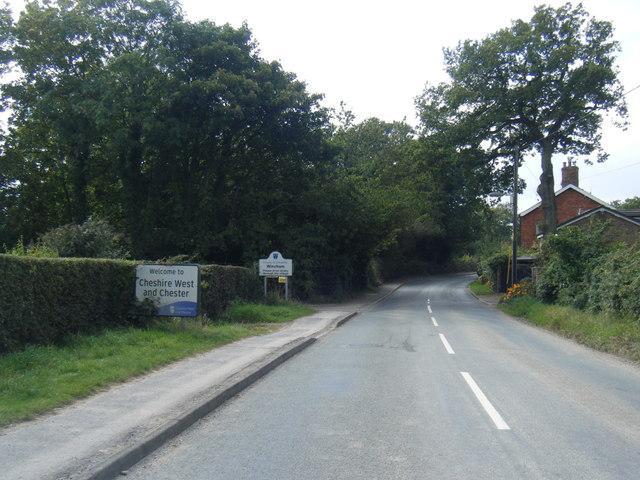 Pickmere Lane at Cheshire West boundary