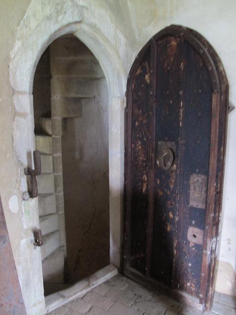 St Peter & St Paul, Salle: muniment room door