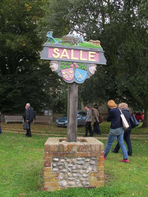 Salle village sign
