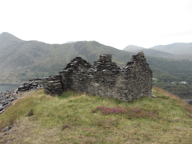 Abandoned building in Dinorwic Quarry
