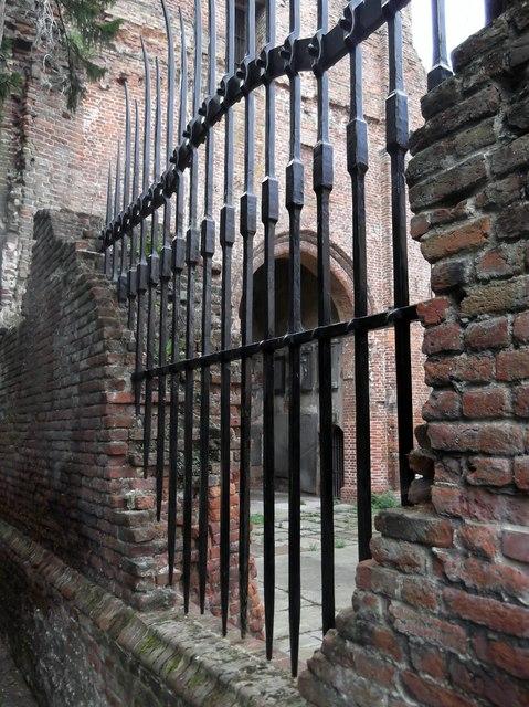 Security fence, St John's ruins, Uxbridge Road