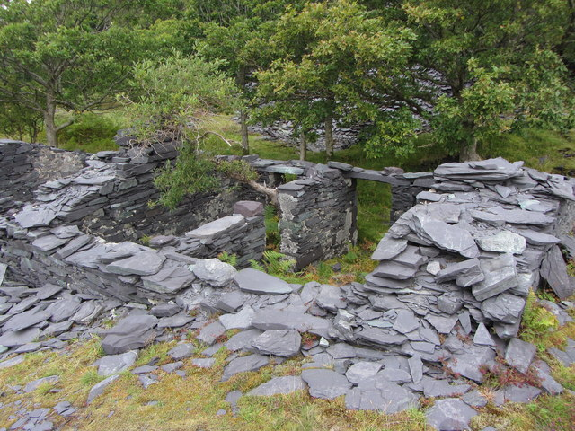 Abandoned dwellings in Dinorwic Quarry