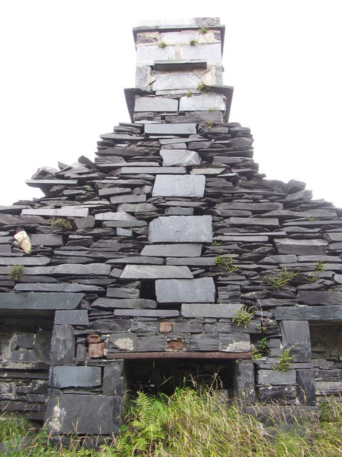 Fireplace in dwelling at Anglesey Barracks, Dinorwic Quarry