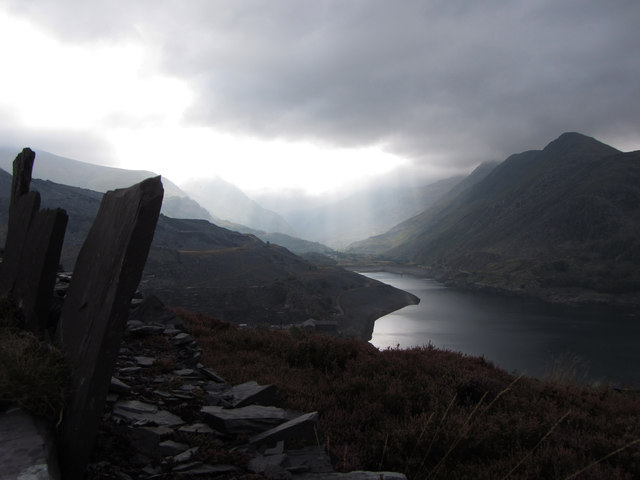 Pass of Llanberis from Dinorwic Quarry