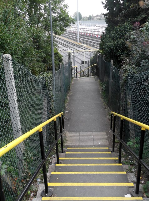 Steps beside Stanmore Underground Station