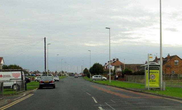Fleetwood Road heading to Blackpool