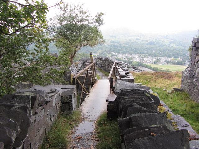 Footbridge in Dinorwic Quarry