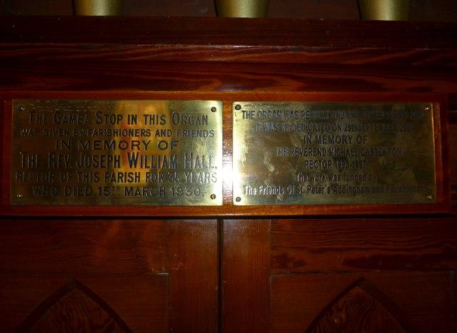 St Peter, Addingham: memorials (III)