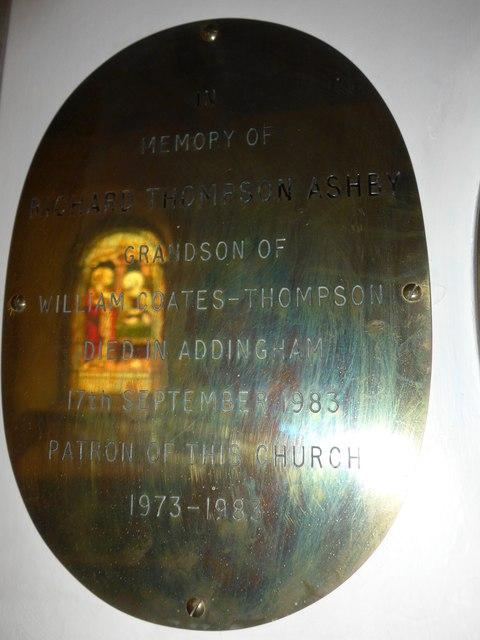 St Peter, Addingham: memorial (VII)