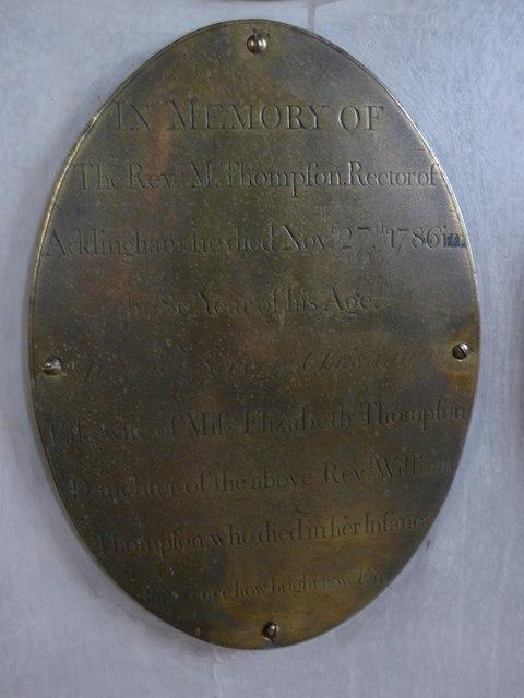 St Peter, Addingham: memorial (IX)