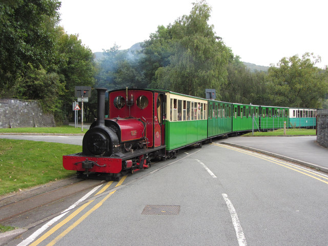 Llanberis Lake Railway near the National Slate Museum