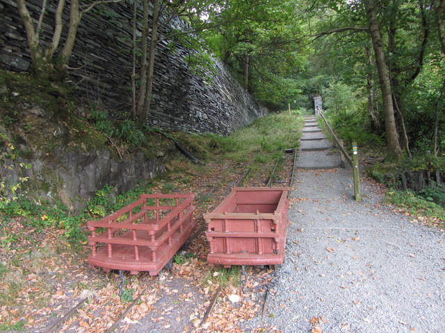 Foot of the A1 incline, Dinorwic Quarry