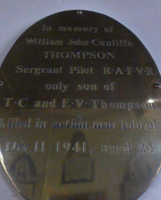 St Peter, Addingham: memorial (X)