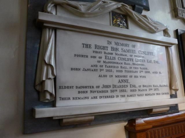 St Peter, Addingham: memorial (XIII)