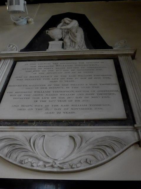 St Peter, Addingham: memorial (XVI)