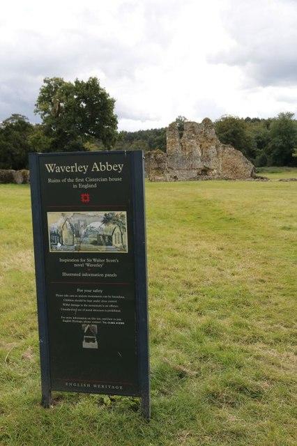 Waverley Abbey Sign