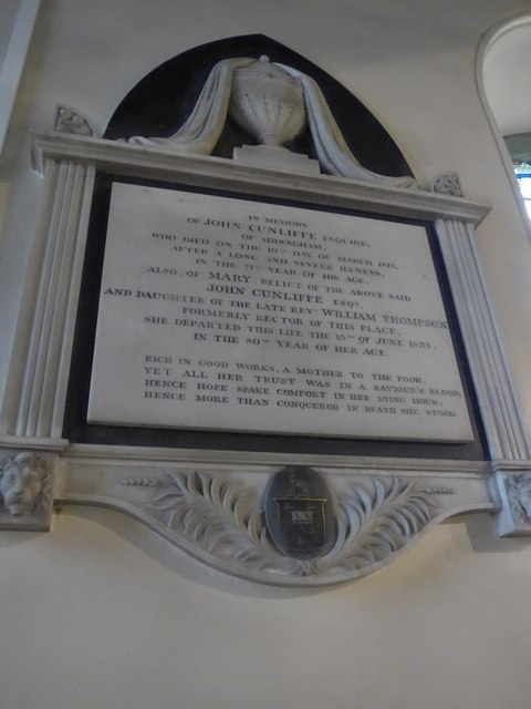 St Peter, Addingham: memorial (XIX)
