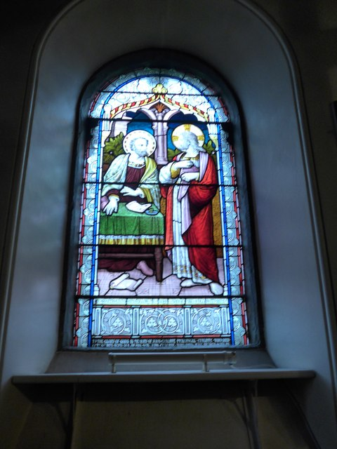 St Peter, Addingham: stained glass window (iii)