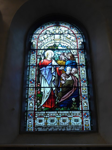 St Peter, Addingham: stained glass window (iv)